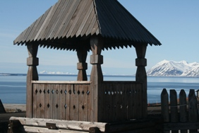 Part of the church in Barentsburg.